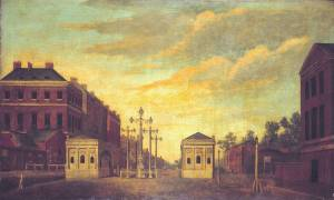 Hyde Park Corner circa 1790 by British School 18th century 1700-1799